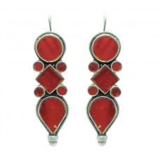 925-sterling-silver-earring-Tribal-Jewellery-with-colour-glass-studded-2-1-039-