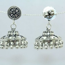 925 sterling silver Jhumki earring India Tribal Jewellery design 1.5 inch