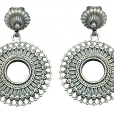 925 sterling silver Glass earring India Tribal Jewellery design 2.3 inch
