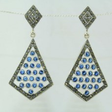 925 sterling silver earrings with Marcasite Gemstones