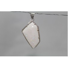 925 Sterling silver Pendant Stamped Real Natural Opal Gemston