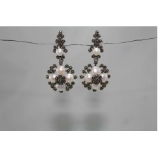 925 sterling silver earrings Marcasite n Pearls Gemstones Victorian Design