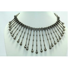 Vintage Traditional India Tribal silver jewellery necklace Length 16 inches