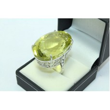 925 Sterling silver Women's ring Lemon Topz stone,