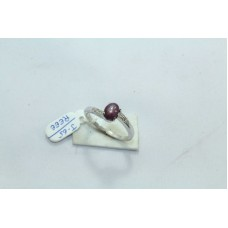 Stamped 925 Sterling Silver Ring with diamonds n Star Ruby Gemstone Size M 1/2