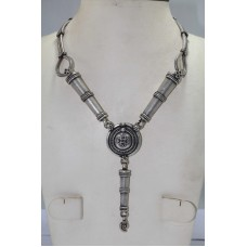Antique Silver Tribal Necklace ,Traditional Design Pipe Necklace