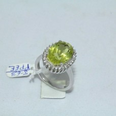 925 Hallmarked Sterling silver Natural Yellow Topaz Stone Zircon Stone