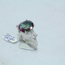 925 Hallmarked Sterling silver Synthetic Mystique Quartz Zircon Stone
