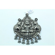 Tribal Temple Jewelry 925 Sterling Silver Goddess Laxmi Pendant with silve beads