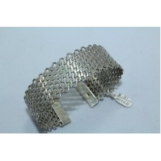 Fashion 925 Sterling Silver Women's jewellery Cuff Bracelet 27.88 Grams