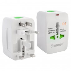 Europe/UK/US/China/India All In One Universal International Travel Adapter Plug Surge Protector