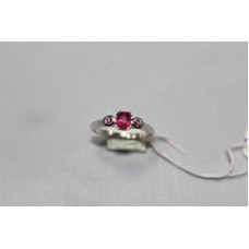 925 Sterling Womens silver ring Real Ruby Gemstones, Ring Size No 13
