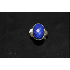 925 Sterling silver Women's ring, Real Laser Cut Lapis Lasuli,  Ring Size 20
