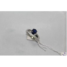 925 Sterling Womens silver ring Real Blue Sapphire Gemstones, Ring Size No 15
