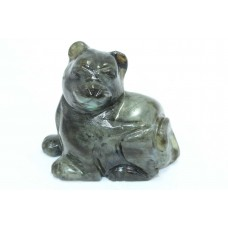 Hand crafted Natural Labradolite gemstone Cat Figure Home Decorative Item 277 G