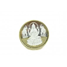 Religious 999 fine silver coin Goddess Laxmi Shree gold polish with box Gift