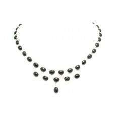 Handmade Designer 925 Sterling Silver Natural Black Onyx Gem Stone Necklace