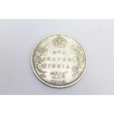 Antique British One Rupee India 1903 Edward VII King & Emperor Silver .916 Coin