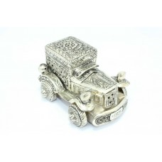 Handmade 925 Hallmarked Sterling SILVER Trinket box Car hand engraved 656 Grams