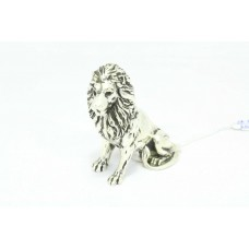 Hand engraved 925 sterling Silver wild animal Lion figure Decorative 81 Gr