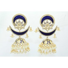 Fashion Traditional Designer Long jhumki chand bali Earrings Gold Plated