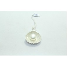 925 Sterling silver Pendant Stamped Pearl Gemstone shell shape