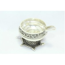 Traditional Handmade 925 Hallmarked Sterling SILVER Ashtray Tortoise Stand