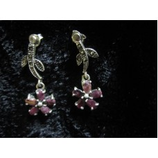 925 sterling silver earrings, Marcasite Jewelry with Semi Precious Gemstones