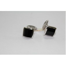 925 Hallmarked Sterling Silver Men's Cuff links, Real Black Onyx Gemstone