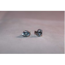 925 Sterling Silver Studs Earring with Natural Aquamarine Stones