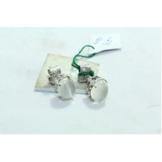 925 Sterling Silver Studs Earring with Natural Moon Stones