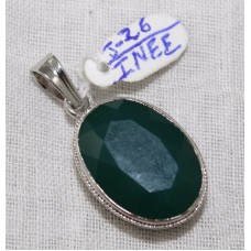 Handmade 925 Sterling Silver Pendant Natural Green Onyx Gemstone