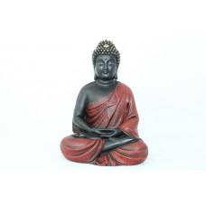 Rajasthan Gems Hand Crafted Buddhism God Meditative Buddha Idol Statue Poly Resin Home decorative(Red)
