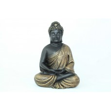 Rajasthan Gems Hand Crafted Buddhism God Meditative Buddha Idol Statue Poly Resin Home decorative(Gold)