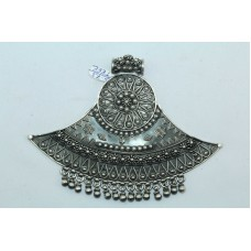 Traditional India Tribal Jewelry 925 Sterling Silver Pendant