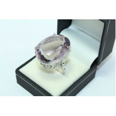 925 Sterling silver Women's ring Amethyst stone