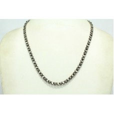 Antique Rare India Alloyed Solid Silver Tribal Necklace Chain 18 Inches