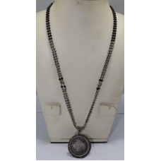 Antique Old Silver Tribal Necklace, Old Coins Necklace 999 fine silver