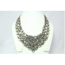 Sterling Silver Tribal India Traditional design necklace 157.0 Grams