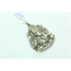 IndiaTribal Temple Jewelry 925 Sterling Silver God Ganesha Ganesh Pendant