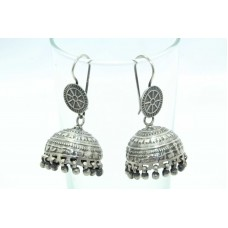 Antique Old Silver India Tribal Jewelry Jhumki Earrings Design