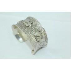 925 Sterling Silver Women's jewellery Cuff Bracelet with elephant figures