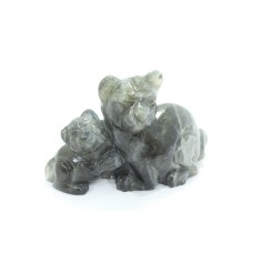 Natural Labradolite gem stone Cat pair Figure Home Decorative Gift Item