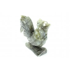 Natural Grey Labradorite gemstone Hen chicken Bird Figure Home Decorative Gift