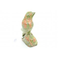 Natural Green orange Jasper gemstone Bird Figure Home Decorative Gift Item