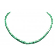 Single Line natural green Malachite Stone bead NECKLACE 20 inch