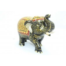 Handicraft Wooden Elephant Hand Painting Gold color Home Decorative gift item