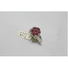 925 Sterling Women silver ring Real cabochon Ruby Gemstones  Ring Size No.14