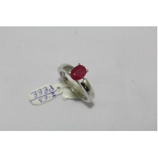 925 Sterling Women's silver ring Real Ruby Gemstone, Ring Size No 15