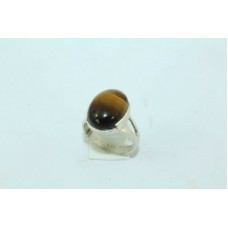 925 Sterling silver Women's Ring with tiger eye stone 16 ring size